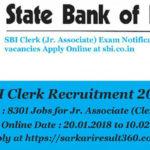 SBI Recruitment 2018 For 8301 Clerk Post. Online apply Last Date :10/02/2018