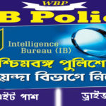 WB Police Intelligence Branch Recruitment 2018-19 Notification for 40 Driver Posts